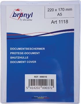 Bronyl U-mapje uit transparante PVC van 180 micron, ft A5