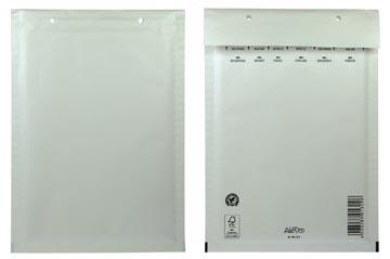Airpro luchtkussenenveloppen, ft 175 x 265 mm met stripsluiting, wit, doos van 100 stuks