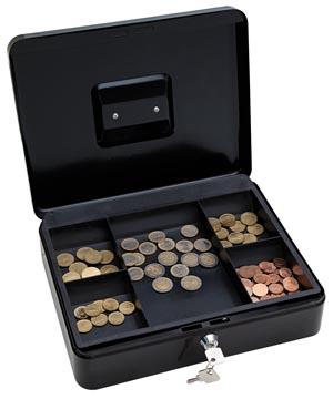 Wedo geldkoffer, ft 30 x 24 x 9 cm, zwart