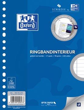 Work ringbandinterieur A5, 17 gaten met kantlijn