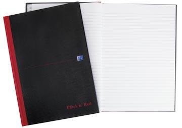 Oxford BLACK N' RED gebonden boek, 192 bladzijden, ft A4, gelijnd