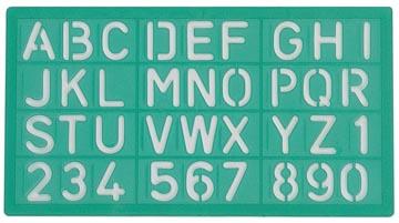 Linex lettersjabloon 20 mm