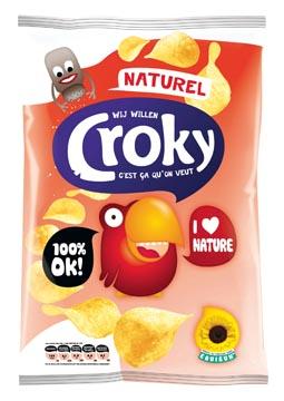 Croky chips naturel, zakje van 100 gram