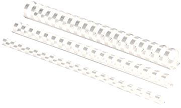 Fellowes bindruggen, pak van 100 stuks, 8 mm, wit