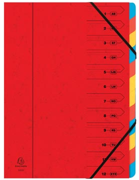 Exacompta Sorteermap 12-delig, rood