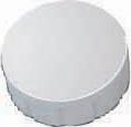 Maul magneet MAULsolid, diameter 15 x 7 mm, wit, doos met 10 stuks