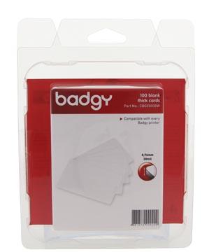 Badgy 100 blanco, dikke kaarten van 0,76 mm, voor Badgy100 of Badgy200