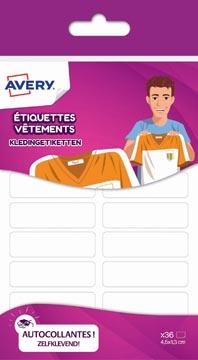 Avery Family kledingetiketten, ft 4,5 x 1,3 cm, wit, ophangbare etui met 36 etiketten