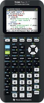 Texas grafische rekenmachine TI-84 Plus CE-T Python edition, zwart
