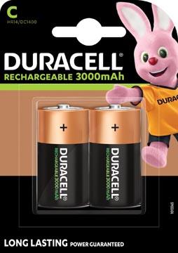 Duracell oplaadbare batterijen C, blister van 2 stuks
