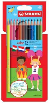 STABILO Color kleurpotlood, kartonnen etui van 12 stuks